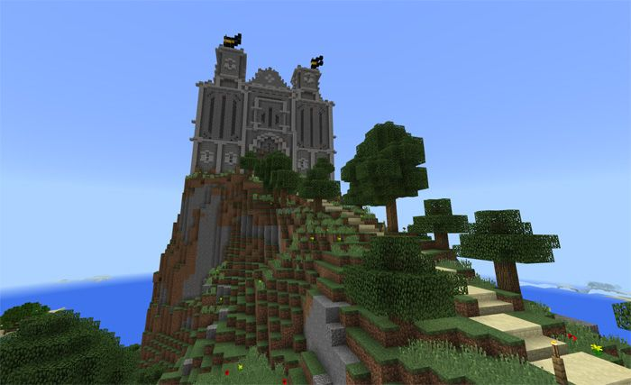 This map gets the inspiration from Casterly Rock in the Game of Thrones. It comes with an average castle on a mountain rock. You can find many islands with water around the island. There is no interior in the castle. It requires you to survive on the island as long as possible. How does Pyke... https://mcpebox.com/pyke-castle-creation-map-minecraft-pe/