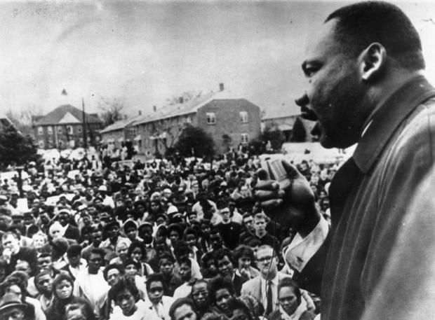 Today is the federal holiday that celebrates the life of civil rights activist Dr. Martin Luther King, Jr., who was assassinated in Memphis, Tennessee on April 4, 1968. The holiday—signed into law by President Ronald Reagan in 1983, and observed since 1986—is held on the third Monday in January. (King was born on January 15.) Here's a look back at King in action.