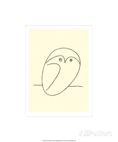 オールポスターズの パブロ・ピカソ「フクロウ」セリグラフ