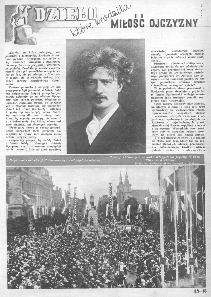 Kurier plus – magazyn rozmaitości z powiatu brzeskiego - Ignacy Paderewski - kartka z historii