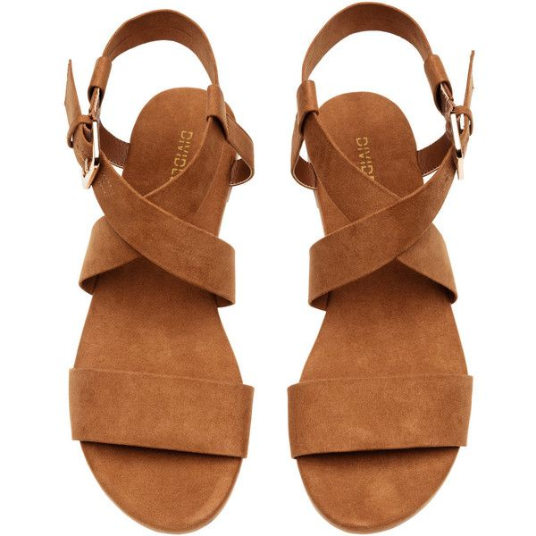 Sandals $14.99 (270 EGP) ❤ liked on Polyvore featuring shoes, sandals, rubber sole shoes, rubber sole sandals, camel shoes, camel sandals and adjustable strap sandals