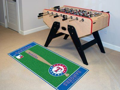Texas Rangers Baseball Runner by Fanmats. $39.27. Texas Rangers Baseball RunnerMake a lasting impression on your guests with the FANMATS runner with your favorite baseball team's logo will. Made in U.S.A. 100% nylon carpet and non-skid recycled vinyl backing. Machine washable. Officially licensed. Chromojet printed in true team colors. Please note: These products are custom made. The normal lead time is about 7-10 business days. However, the putting mats and car...
