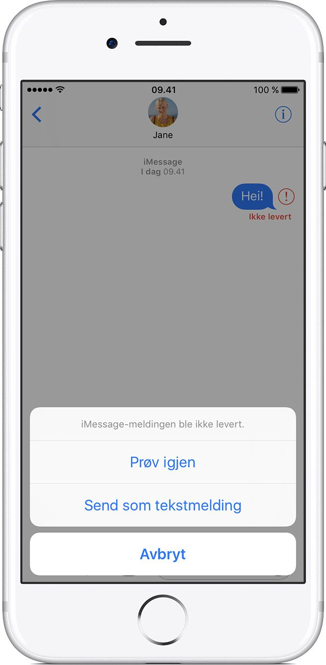 Hvis du ikke kan sende eller motta meldinger på iPhone, iPad eller iPodtouch - Apple-kundestøtte