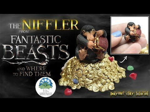 The Niffler from Fantastic Beasts and Where to Find Them - Harry Potter - Polymer Clay Tutorial - YouTube