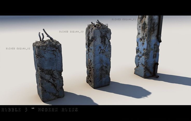 Rubble 3: Modern Ruins   3D Models and 3D Software by DAZ 3D
