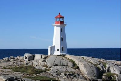 The Lighthouses along the Lighthouse Route in Nova Scotia