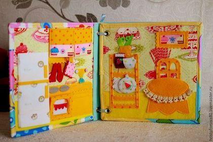 """Купить """"Малышкина книжка"""" - разноцветный, развивающая книжка, кукольный домик, подарок для девочки"""