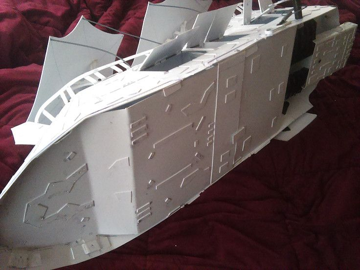 McRobo Creations - Star Wars Jabba's Sail Barge, Deluxe Version. Bottom detail, engine, 16 doors, poseable rudders.