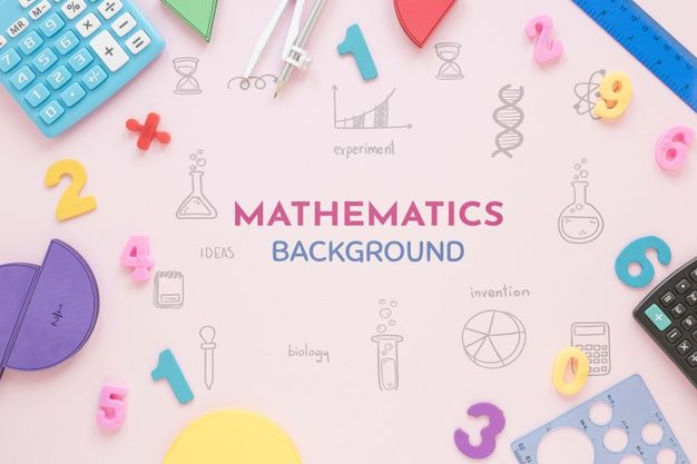 Download Mathematics Background With Shapes And Calculators For Free Mathematics Math Wallpaper Graphics Design Ideas