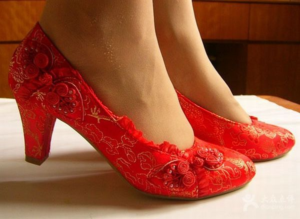 5ef3f4b0f Attractive red wedding shoes to adorn your bridal feet! | I ♥ Ruby ...