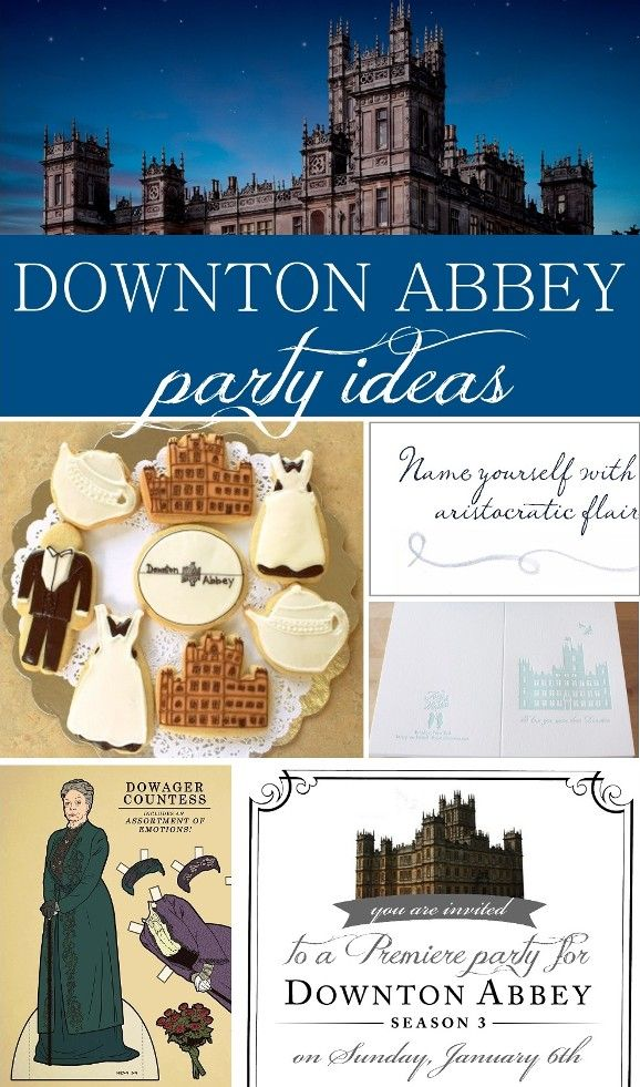 Downton Abbey Party Ideas and free printable from www.sisterssuitcaseblog.com