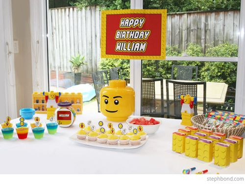 Bondville Lego party for 6 year old William Lego party theme