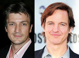 Nathan Fillion (L) could very well pass up for William Mapother (R) whom just so happens to be Tom Cruise's cousin...