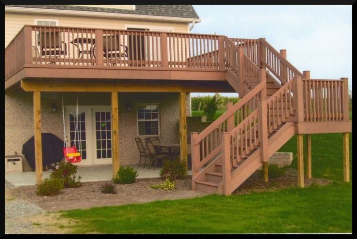 Backyard Deck Plans : Decks, Two story deck and Second story deck on Pinterest