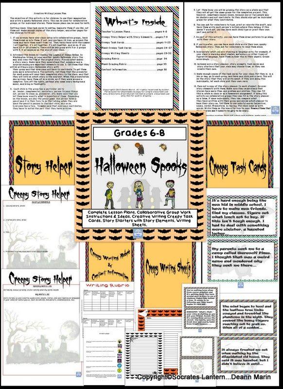 Halloween themed creative writing