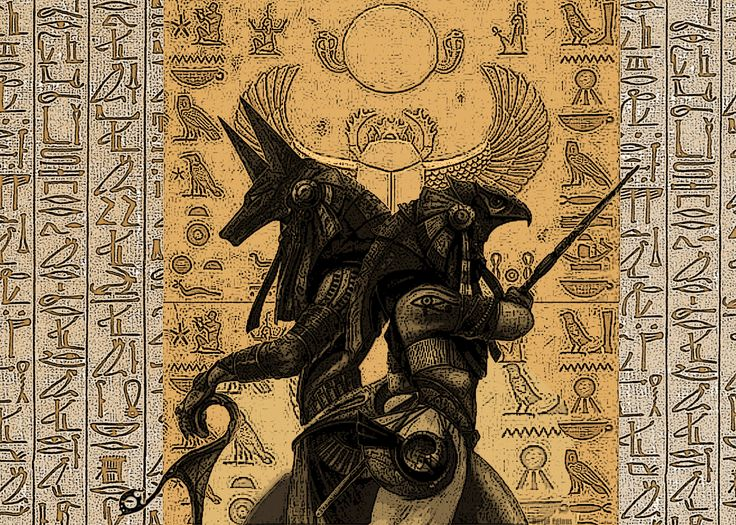 Anubis and Osiris by Dandelum.deviantart.com on @DeviantArt