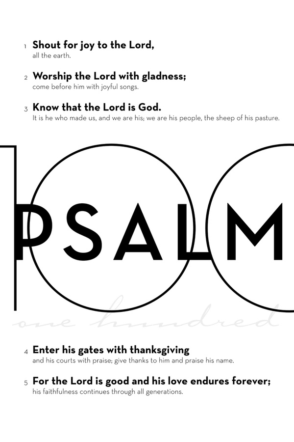 Psalm 100 Awesome Black Amp White Psalms Teksten