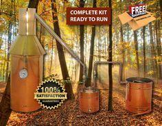 6 Gallon Copper Moonshine Liquor Distillation Unit w/ Lifetime Warranty (100% Complete Ready to Use)For sale, Order Now