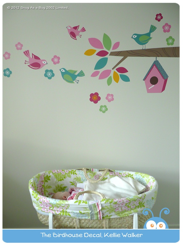 Birdhouse Decal by Kellie Walker.  Vote for Kellie if you think this is the best kids room!