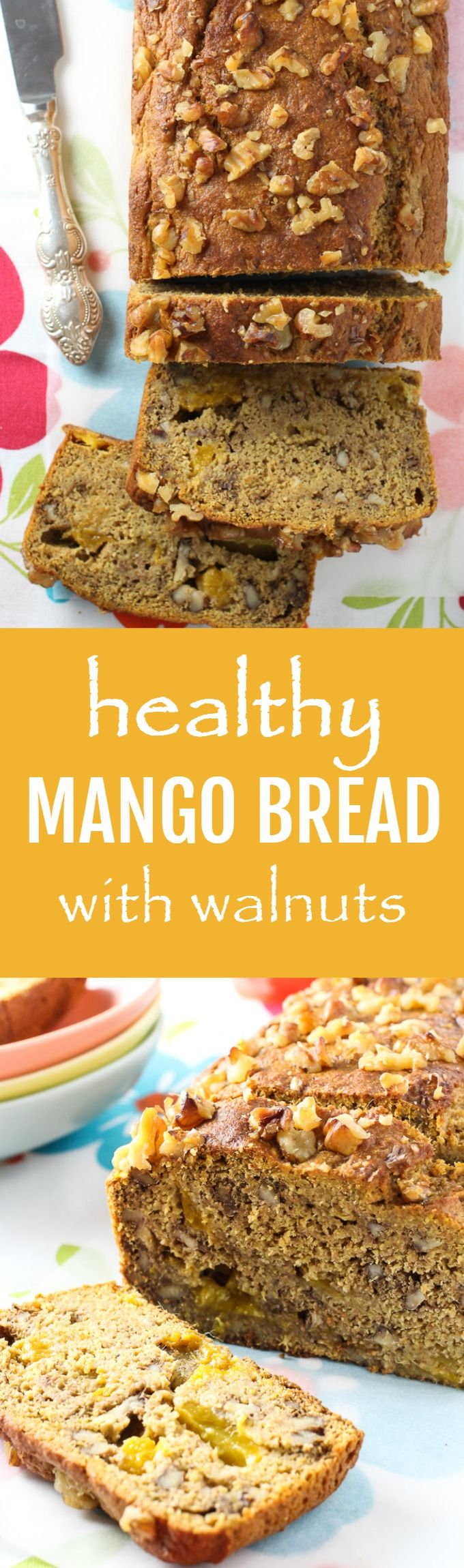 Clean Eating Mango Bread