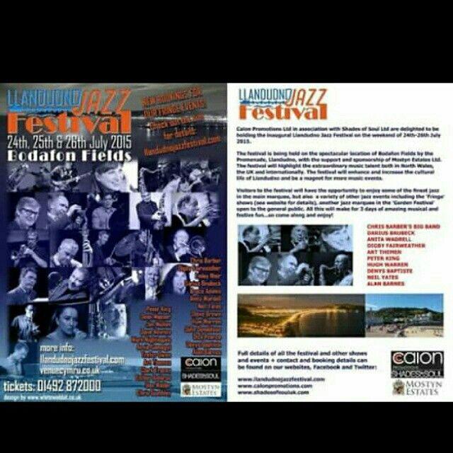 Llandudno Jazz Festival News! July 2015