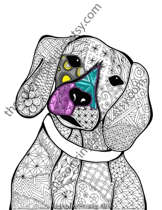 Legendary Zentangle Canine Coloring Web Page Animal Coloring Zentangle Coloring Web Page Z In 2020 Animal Coloring Books Dog Coloring Book Animal Coloring Pages