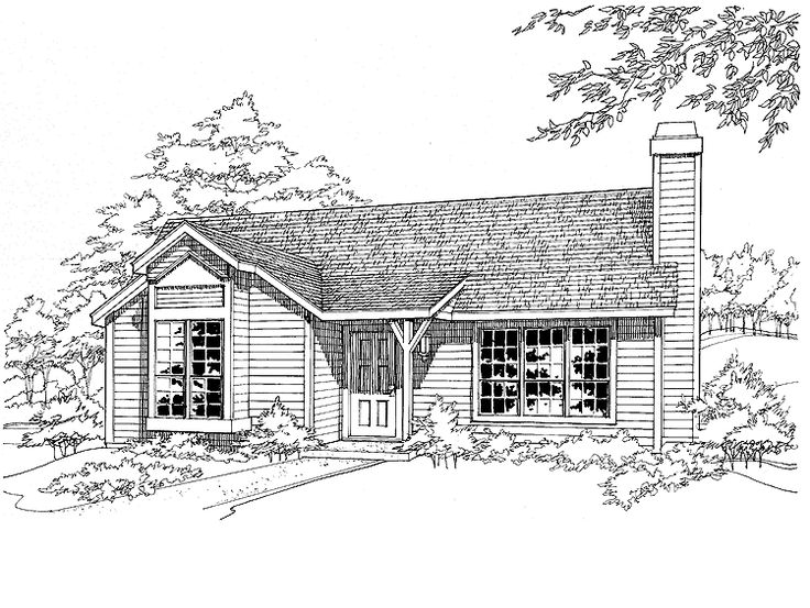 One Bedroom Cottage Plans 78 best house plans images on pinterest | small houses, house