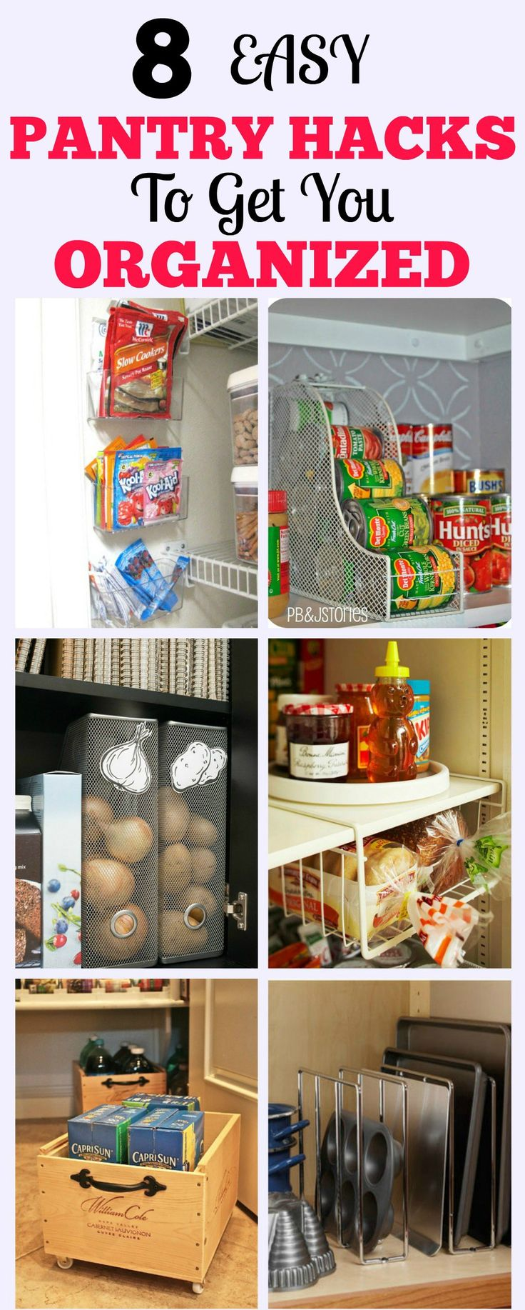 Organized Pantry | Pantry Hacks | Organize Your Pantry | Pantry Organization | Food Organization