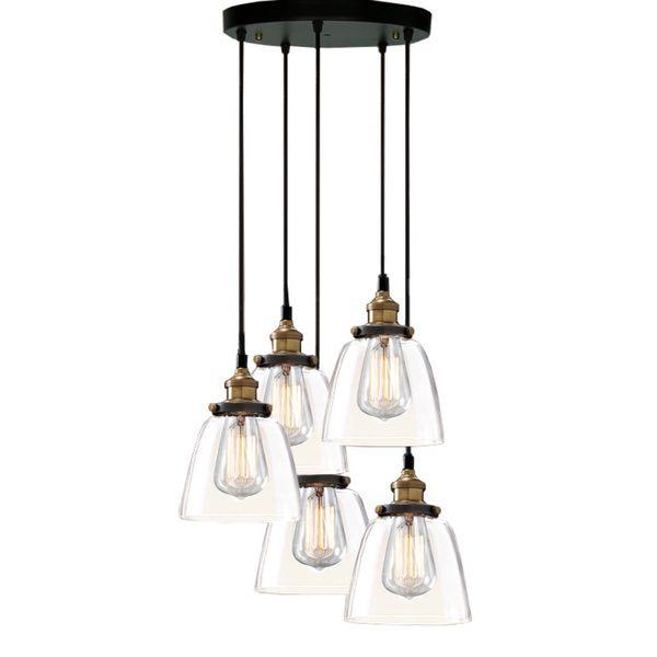 euna 5light adjustable cord edison lamp with bulbs by warehouse of tiffany