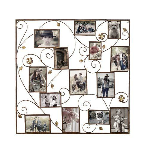 Found it at Wayfair - 14 Opening Decorative Bronze-Color Iron Photo Collage Wall Hanging Picture Frame