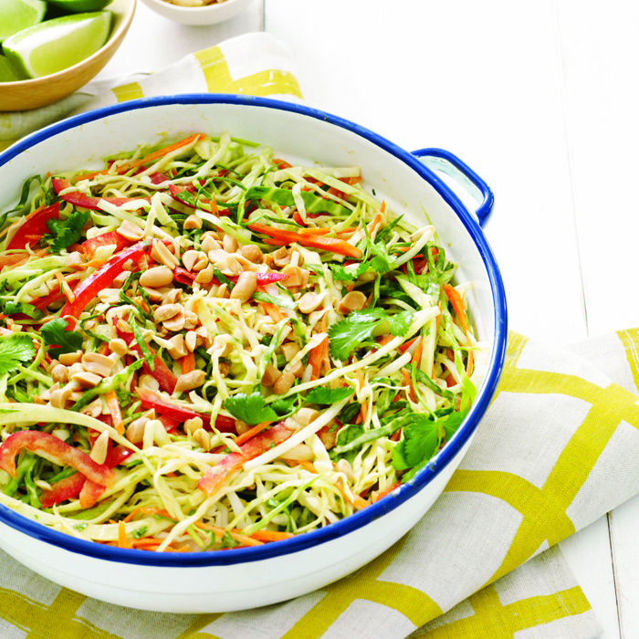 Crispy Thai Slaw with Curry Dressing