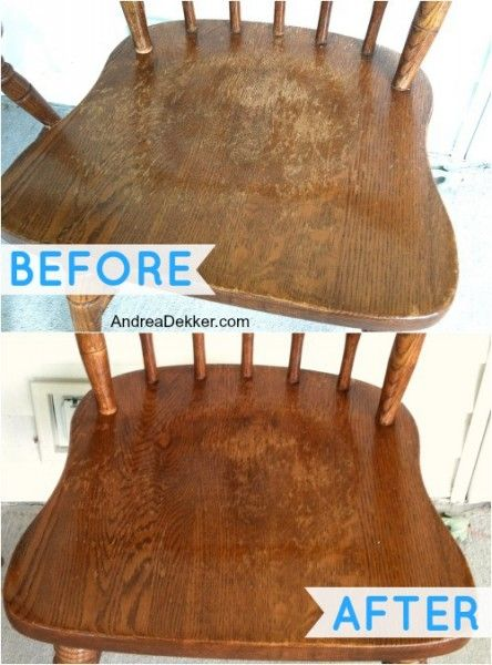 """""""Recipe"""" For Super Fast Wood Furniture Restoration: 1. Make sure your item is clean from dust, dirt, and debris. 2. Mix 3 parts cooking o..."""