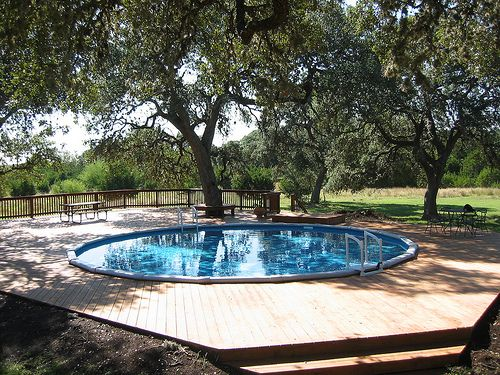 30 Ft Round Round Above Ground Pool Put In Ground Spring Branch Tx Pools Pinterest