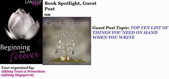 #GuestPost by @LanLLP on @cindyloveofbook's blog http://cindysloveofbooks.com/2014/08/book-spotlight-beginning-forever/ Also checkout lan's book, #BeginningWIthForever and Enter #Giveaway to win $10 Amazon GC, copies of the bk! :)  #BlogTour #Romance