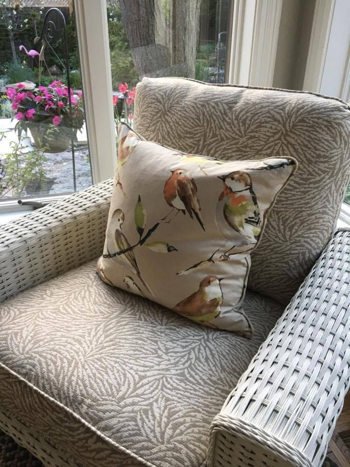 Have you found a fabric you love?  I'll make a cushion for you that will last for years.