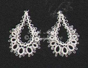 Teardrop_earringsTat Lace, Tat Accessories, Frivolite Tat, Tat Ears, Tat Jewelry, Jewelry Tat, Tat Earrings, Earrings Tat, Crochet Knitting Tat