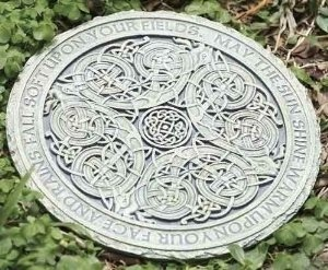 Celtic Garden Stepping Stone - Decorating a Garden for St. Patrick's Day