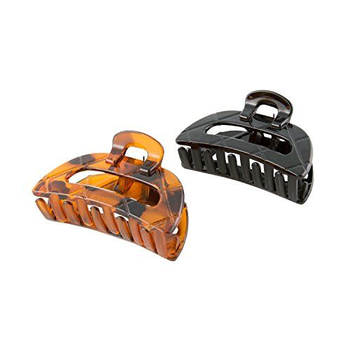 Goody Classics Quilted Future Primal Claw Hair Clips Medium Black and Tort Pack of 3 -- Continue with the details at the image link. #HairClips