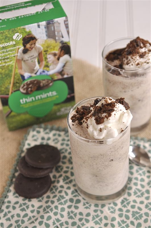 Thin Mint Cookie Shake and Tagalong Cookie Shake.  Sounds yummy to me!