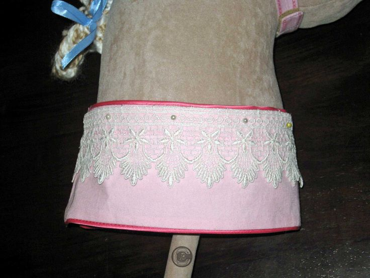 The addition of a piece of Border Lace can really 'dress up' a plain Neckband.