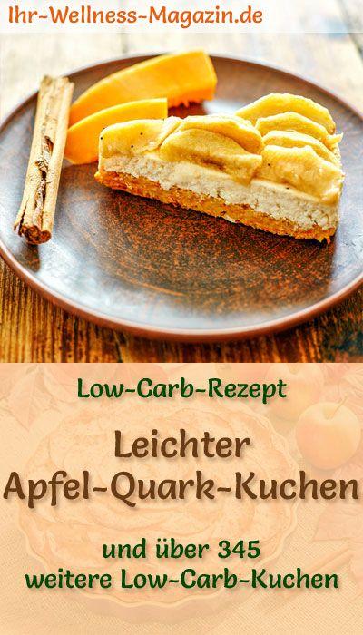 Leichter Low Carb Apfel Quark Kuchen Rezept Ohne Zucker Apfel