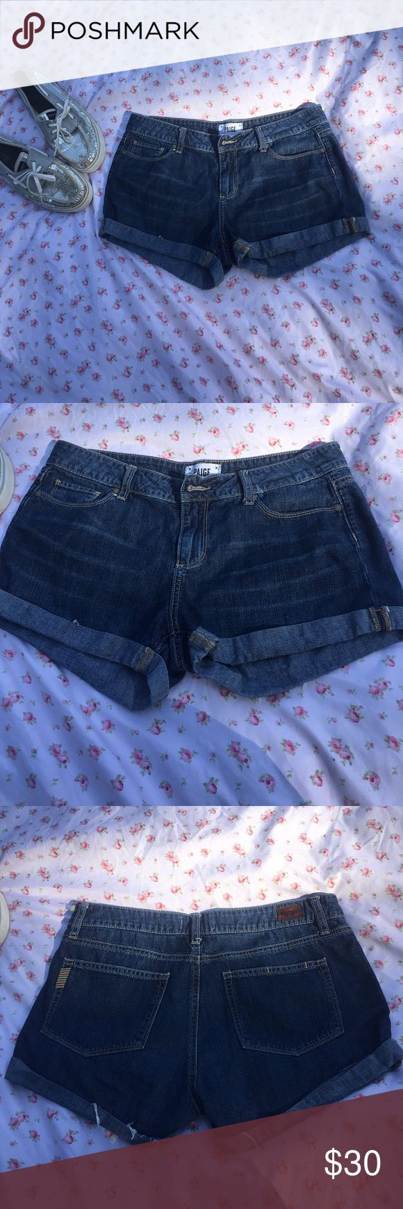 Paige jimmy jimmy shorts Excellent condition denim shorts! Cuffed hem. PAIGE Shorts Jean Shorts