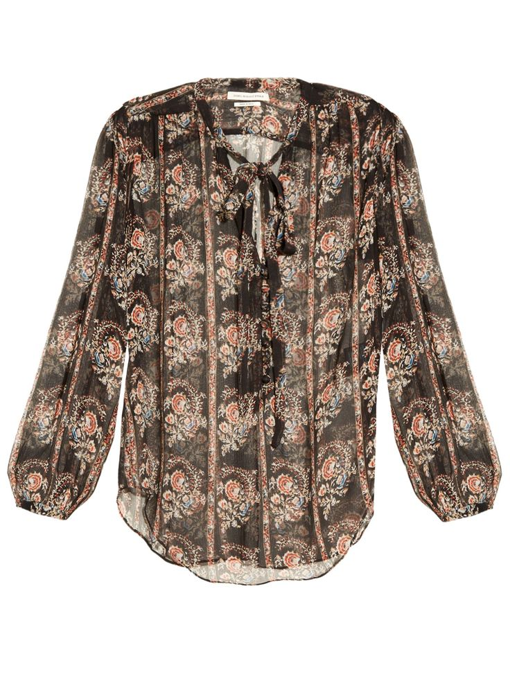 Isabel Marant Étoile, Siandra printed silk-georgette blouse