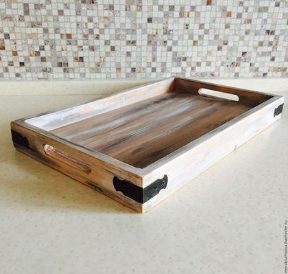 Кухня ручной работы. Ярмарка Мастеров - ручная работа. Купить Деревянный поднос. Handmade. Комбинированный, поднос для завтрака, декор интерьера
