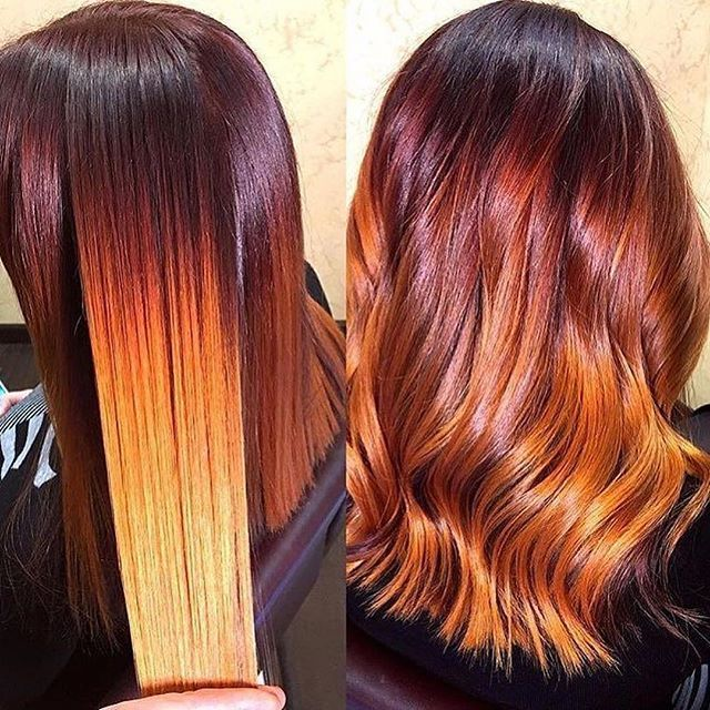 @voiceofhair ・・・ This color is amazing by @viktor_goncharenko😍 Fall colors🍁🍂🍁#voiceofhair • • • #colorist #healthyhair #bayalage#haircolor #blowout  #nolye  #colorist #customcolor #colormelt #longhair #realhair #modernsalon #btchair #fallcolors#mermaidhair#hairofinstagram #pravana #olaplex #paulmitchell #fallcolors  #waves