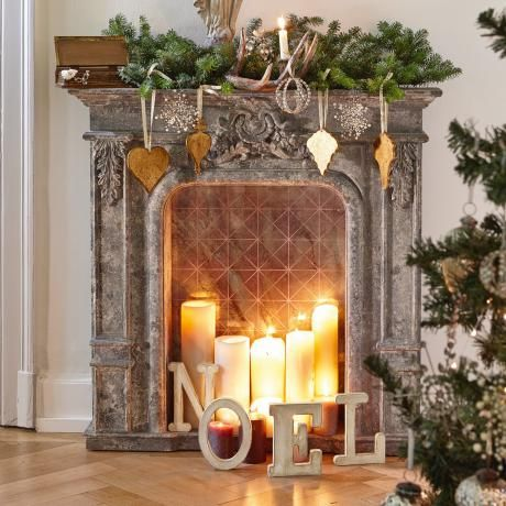 Kaminkonsole - Diese stilvolle Kaminkonsole ist ein optisches Highlight in Deinem Wohnraum! Lieferung ohne Dekoration. - ab 368,00€