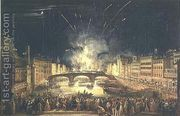 Fireworks over the River Arno  by Giovanni Signorini