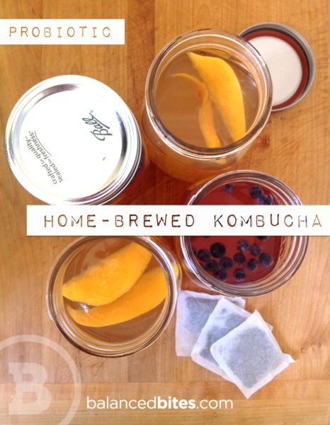 Easy Recipe: Home-Brewed Kombucha | Balanced Bites | Holistic & Paleo Nutrition Education