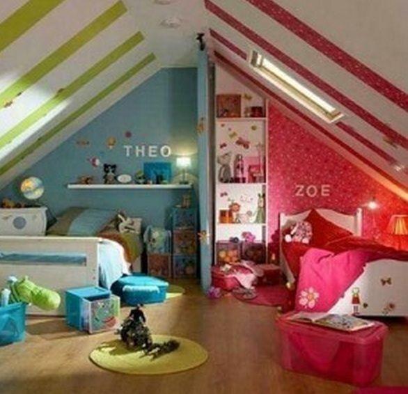 101 Loft/Attic Conversion Ideas   Because a simple loft ladder could lead to something amazing! http://www.ladders-online.com/uk/loft-ladders.html   // Number: 1 \\ Idea Type: Kids Loft Room  Idea Details: If you have 2 children why not split the room!  Idea Difficulty: Medium  #loftconversion#atticconversion #diy