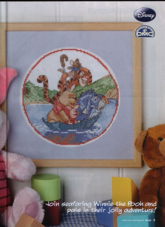 Winne the Pooh Hop on Board Cross Stitch Crazy Issue 141 September 2010 Saved